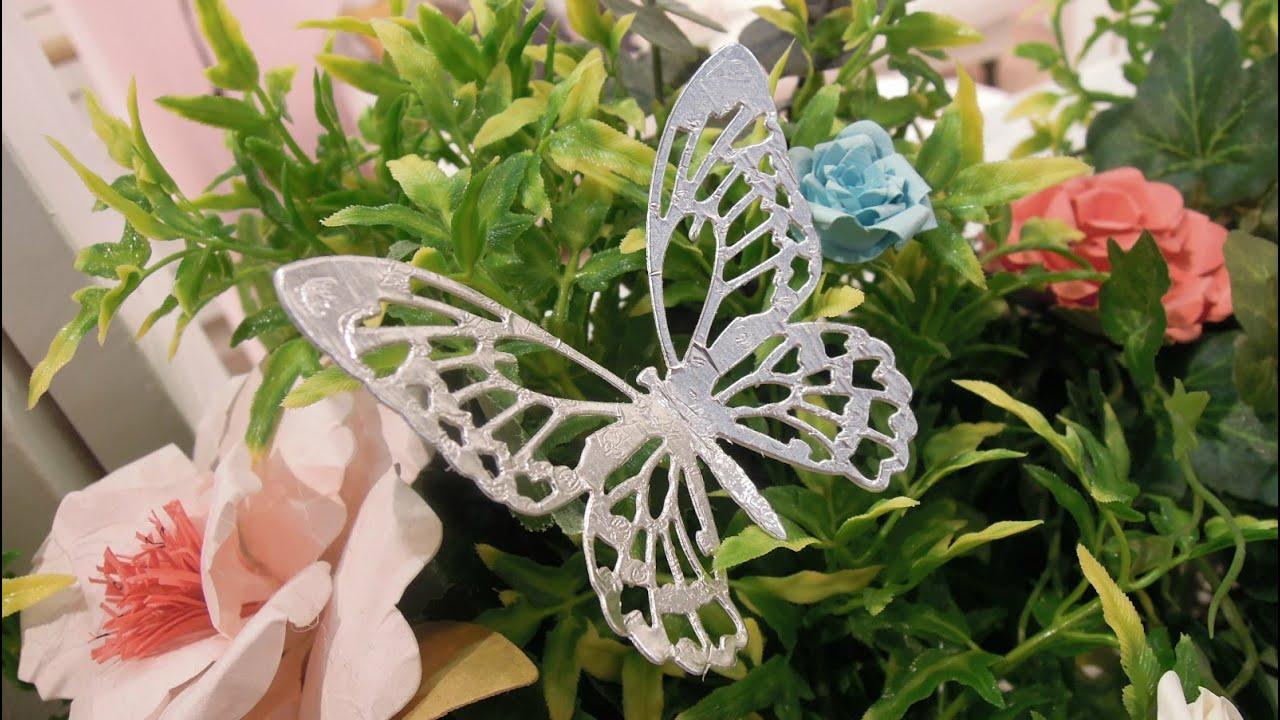 Cómo hacer una mariposa metálica. Tutorial con Big Shot. Foiled Butterfly Tutorial