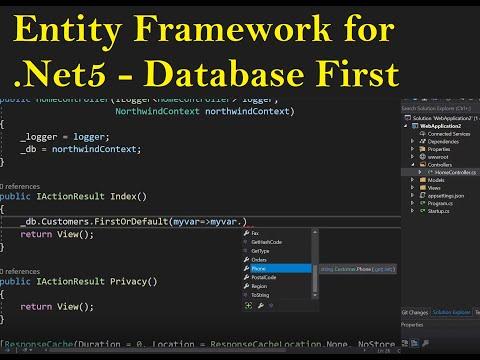 Entity Framework Database First .Net5 (Easy Setup and Usage)