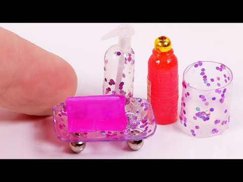 DIY Miniature Bath Accessories Set [a collab video]