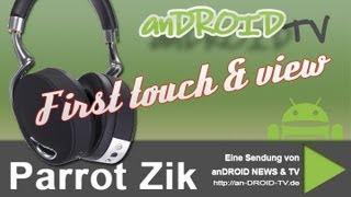 Parrot Zik BT / NFC Kopfhörer - First touch & view - anDROID TV