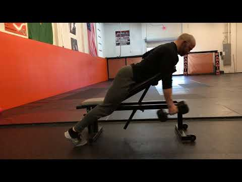 Chest Supported Dumbbell Row with Isohold