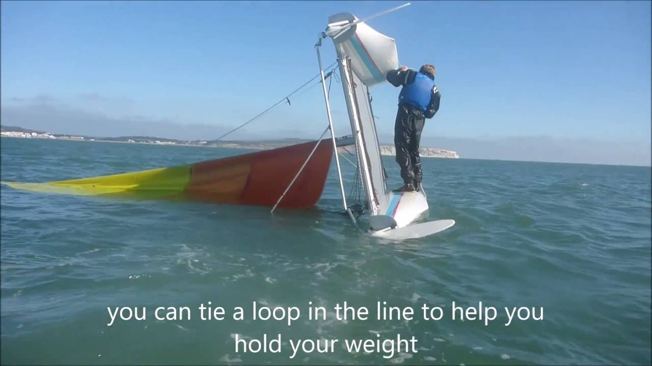 How to right an inverted catamaran