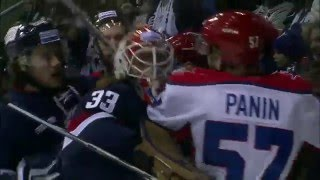 Barry Brust joins major brawl behind his own net