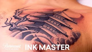 Japanese Temple Tattoos Elimination Official Highlight | Ink Master: Grudge Match (Season 11)