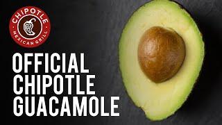 Official Chipotle Guacamole Recipe!