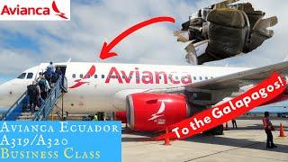 Avianca Ecuador A319/A320 BUSINESS CLASS: To the Galapagos!