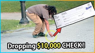 Dropping $10,000 CHECK Experiment (Social Experiment)