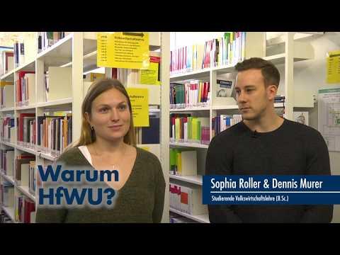 Thumbnail YouTube Video mit Foto der Studierenden und der Frage: Warum studiert Ihr an der HfWU?