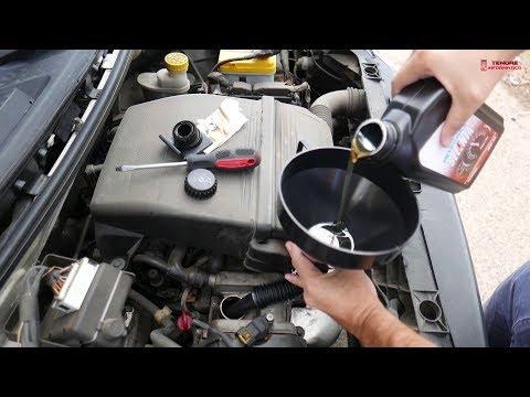Controllo e rabbocco olio motore auto