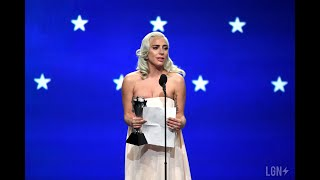 "Lady Gaga's FULL Emotional Speech At Critics Choices Awards After Winning ""Best Actress"""