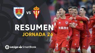 Highlights CD Numancia vs Real Sporting (2-0)