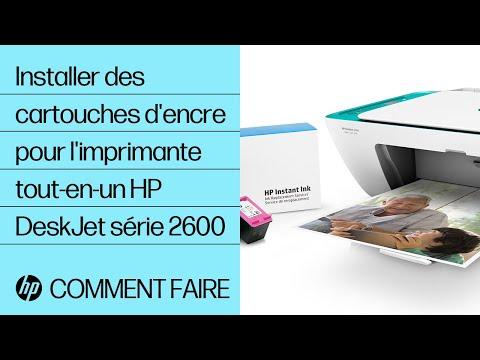 Installer des cartouches d'encre pour l'imprimante tout-en-un HP DeskJet série 2600