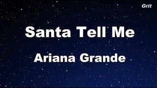 Santa Tell Me - Ariana Grande Karaoke【With Guide Melody】