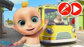 Колеса на автобусе | The Wheels on the Bus - Songs for Children | Песенка и караоке!