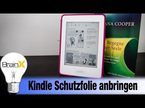 Amazon Kindle Paperwhite Schutzfolie blasenfrei anbringen - Installing protective film
