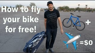 How to avoid paying to fly with your bike!
