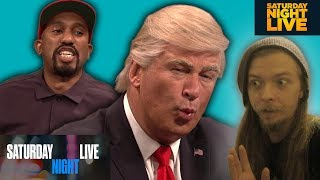Kanye West Donald Trump Cold Open   Saturday Night Live(REACTION)
