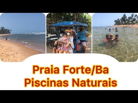 PRAIA FORTE/BA. VLOG da Larifer nas Piscinas Naturais - Caribe Baiano.