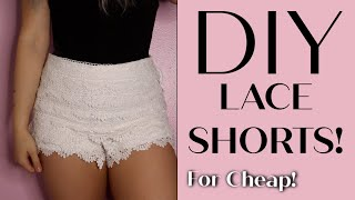 DIY Pinterest Lace Shorts! FOR CHEAP! | Christene Renshaw
