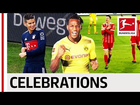 James, Batshuayi, Lewandowski & Co. - Best Goal Celebrations 2017/18