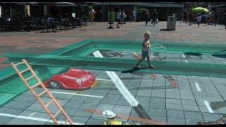 3D Street Art, De bende van Éliënde en| Modelboten in De Struytse Hoeck Hellevoetsluis