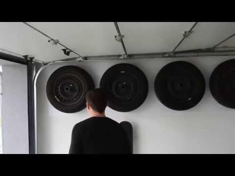 Reifenhalter, Felgenhalter aus Edelstahl zur Wandmontage