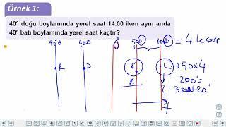 Eğitim Vadisi TYT Coğrafya 3.Föy Coğrafya Koordinat Sistemi 3 (Boylam ve Etkileri, Yerel Saatler) Konu Anlatım Videoları