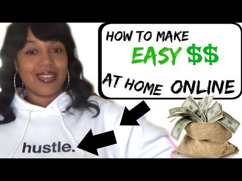 HOW TO MAKE MONEY FROM HOME** ANYBODY CAN DO IT!!