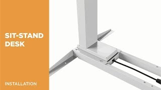 M06-23R Dual Motor Electric Sit-Stand Desk (Reversed) Installation Video