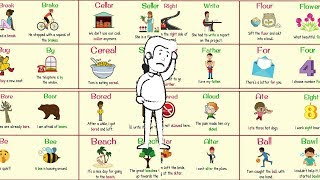 HOMOPHONES - Confusing Words that Sound the Same But Have Different Meanings