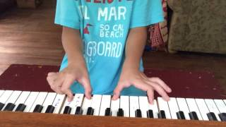 How to play the flash theme song on piano for beginners
