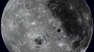 Полная фаза вращения Луны. Компьютерная обработка, многократно ускоренная