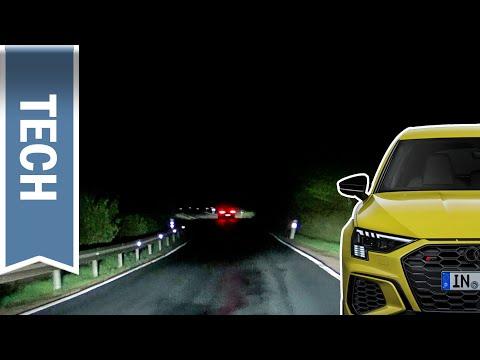 Matrix LED-Scheinwerfer im Audi A3 im Test: Nachtfahrt mit Fernlichtassistent & Lichtfunktionen