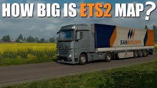 How Big Is Euro Truck Simulator 2 Map?