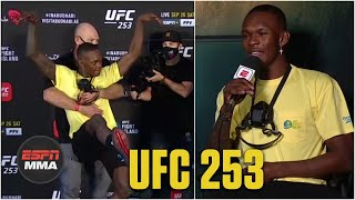 Israel Adesanya explains his dramatic face-off with Paulo Costa | UFC 253 | ESPN MMA