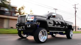 2015 GMC Denali built on a 10 inch FTS lift and 26x16 wheels from beginning to end!