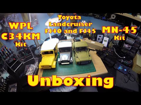 Unboxing WPL C34KM and MN-45 Toyota Landcruiser - Double Feature