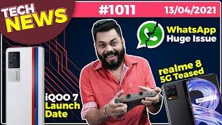 iQOO 7 Hindistan Lansman Tarihi, WhatsApp Büyük Sayı, realme 8 5G Teased, Galaxy M42 with SD750G- # TTN1011