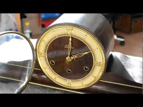 Lauffer Kaminuhr mit Westminsterschlag und original Gebrauchsanweisung