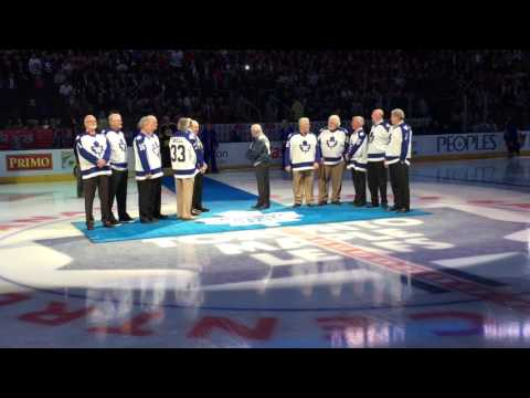Darryl Sittler - 10 points in 1 game 40th Anniversary Ceremony at ACC