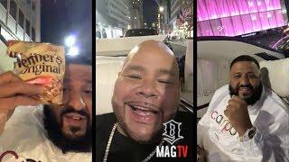 Fat Joe & DJ Khaled Cruising In A Million Dollar Drop Maybach!