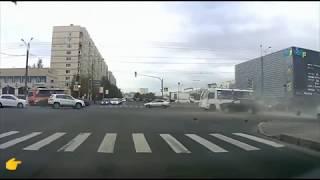 Аварии на дороге, приколы на дороге. 2018 год