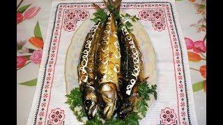 Скумбрия фаршированная / Скумбрія фарширована морквою і сиром / Рецепт приготовления скумбрии
