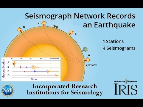 4-Station Seismograph Network Records Earthquake (Educational)