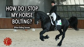 HOW DO I STOP MY HORSE FROM BOLTING? - FearLESS Friday Episode 55
