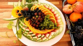 DIY Fruit Platter Decorations | Fruit And Vegetable Carving Garnish