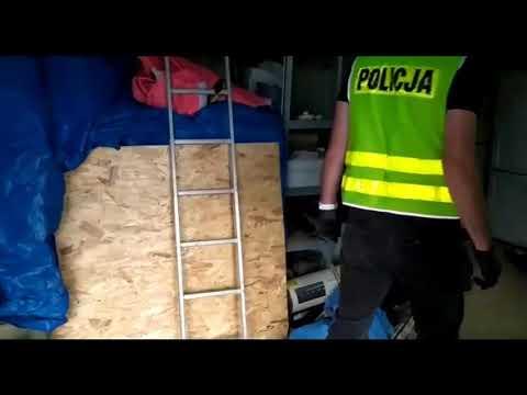 Wideo: Policja zlikwidowała laboratorium produkcji narkotyków w pow. legnickim