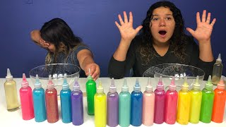 3 COLORS OF GLUE SLIME CHALLENGE - NEW GLUE COLORS!
