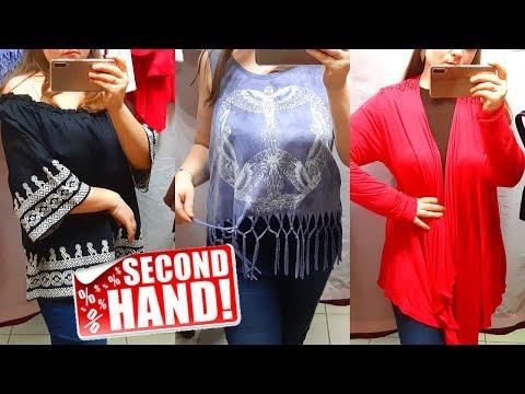 Одежда на вес в Секонд Хенд / влог из примерочной