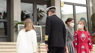 Sus Majestades los Reyes y Sus Altezas Reales la Princesa de Asturias y la Infanta Doña Sofía, visitan Navantia Cartagena